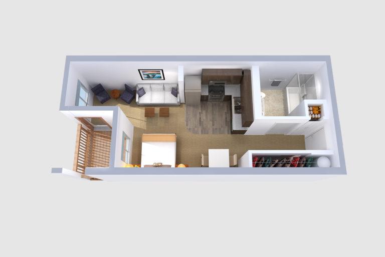 -Floorplans A & J Studio /1 BATH 475 Sq.ft.Sq.ft.
