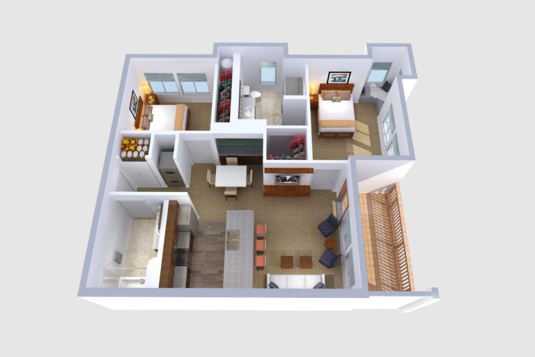 -Floorplans B, E, & H 2  BED/2 BATH 972-989 Sq.ft.Sq.ft.